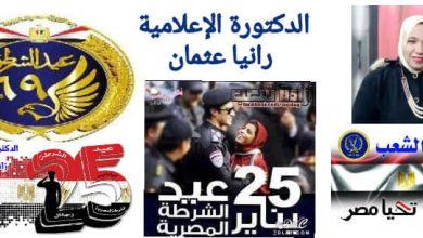 تحية صادقة وتهنئة راقية تقدمها الاعلامية رانيا عثمان للشرطة المصرية